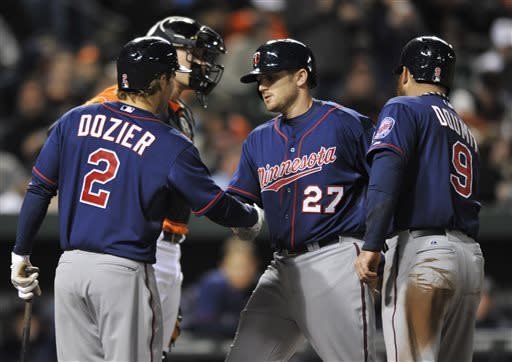 Twins use unearned run to beat Orioles 6-5