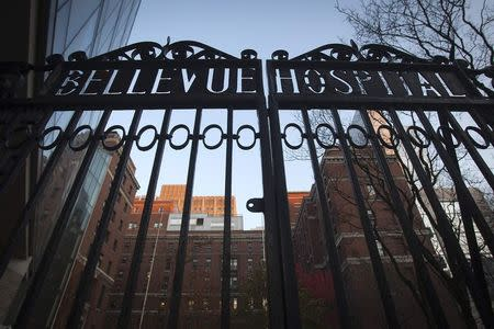 A view of Bellevue Hospital in the Manhattan borough of New York