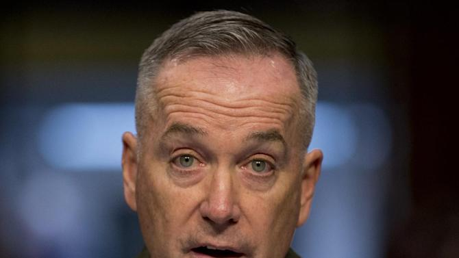 In this March 12, 2014 file photo, Gen. Joseph F. Dunford, Jr. testifies on Capitol Hill in Washington. President Barack Obama will nominate Dunford as next Joint Chiefs of Staff chairman. (AP Photo/Carolyn Kaster, File)