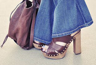 Flared Jeans With Platforms