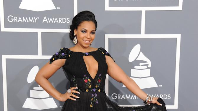 Ashanti arrives at the 55th annual Grammy Awards on Sunday, Feb. 10, 2013, in Los Angeles.  (Photo by Jordan Strauss/Invision/AP)