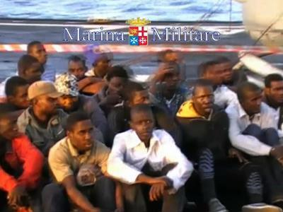 Raw: Migrants Rescued From Mediterranean Sea