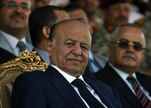 Yemeni President Abdrabuh Mansur Hadi (L), pictured in May 2012, received a boost in credibility as Yemen outsted Al-Qaeda from its southern strongholds this month. However, analysts warn more challenges lie ahead for this new leader
