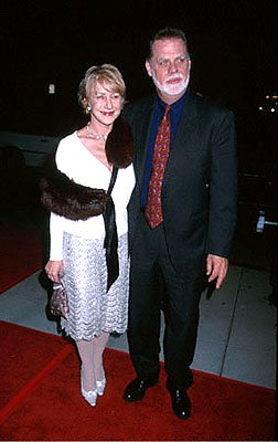 Helen Mirren and Taylor Hackford at the Beverly Hills premiere of Castle Rock's Proof Of Life