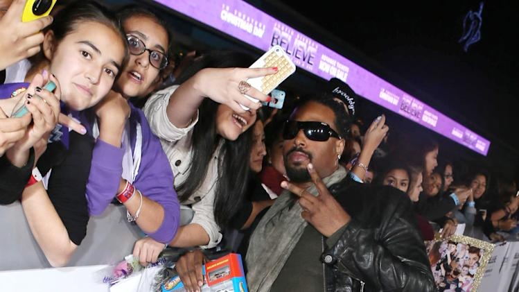 "Shawn Wayans seen at the World Premiere of Open Road's ""Justin Bieber's Believe"" presented by Teen Vogue and sponsored by Clearasil, on Wednesday, Dec. 18, 2013 in Los Angeles. (Photo by Alexandra Wyman/Invision for Open Road Films/AP Images)"