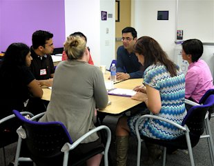 Vivek Sharma chats with participants