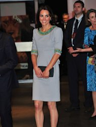 Catherine, Duchess of Cambridge leaves the &#39;African Cats&#39; UK film Premiere in Aid of Tusk at the BFI Southbank on April 25, 2012 in London -- Getty Images