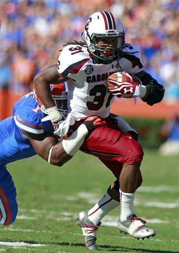 No. 3 Florida drubs No. 9 South Carolina 44-11