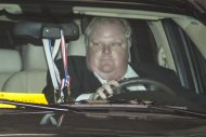 Toronto Mayor Rob Ford leaves city hall in Toronto on Thursday May 23, 2013. THE CANADIAN PRESS/Chris Young