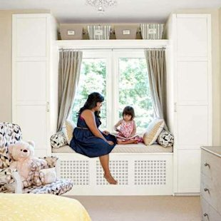 Window Seat and Wardrobes