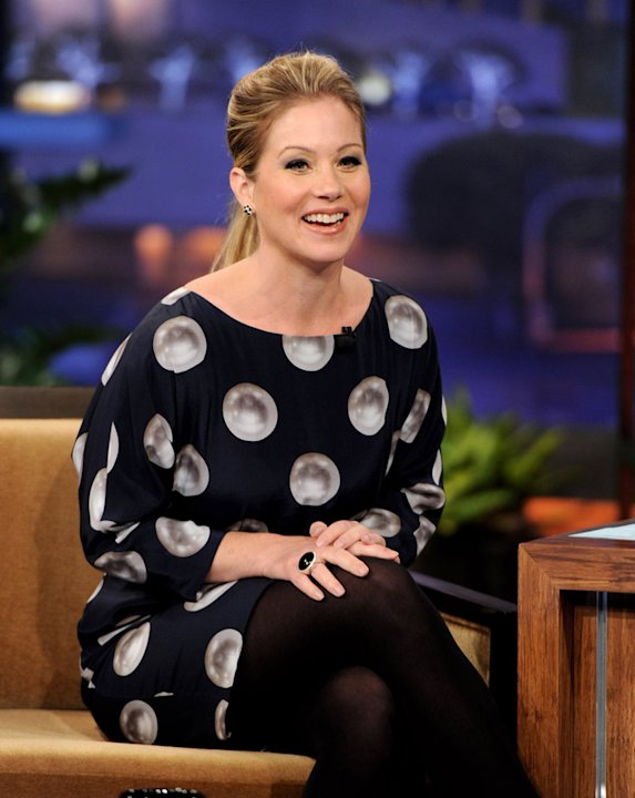 Christina Applegate appears on the Tonight Show With Jay Leno at NBC Studios on September 12, 2011 in Burbank, California.