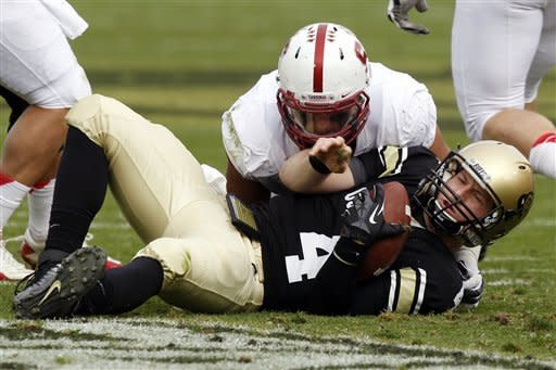 Hogan leads No. 15 Stanford past Colorado 48-0