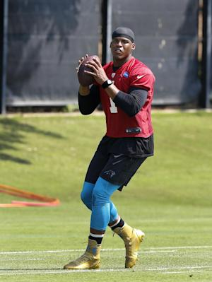 Panthers say QB Newton, DE Hardy ready to practice