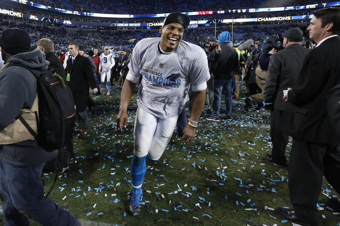Cam Newton runs away with 2015 NFL MVP award