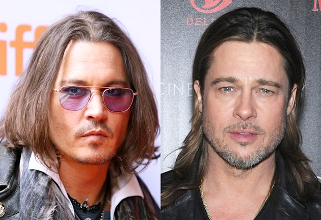 Johnny Depp, Brad Pitt