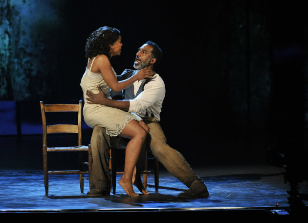 "Audra McDonald, left, and Norm Lewis perform in a scene from ""The Gershwins' Porgy and Bess"" at the 66th Annual Tony Awards on Sunday June 10, 2012, in New York. The production wona Tony Award for bes"
