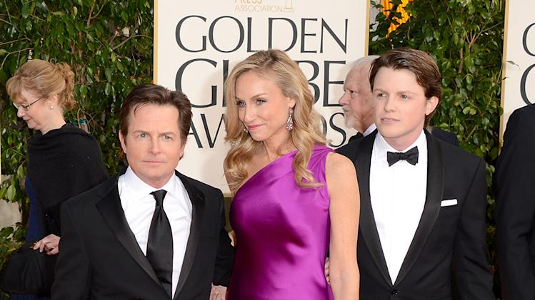 Michael J. Fox Tracy Pollan and  Sam Fox