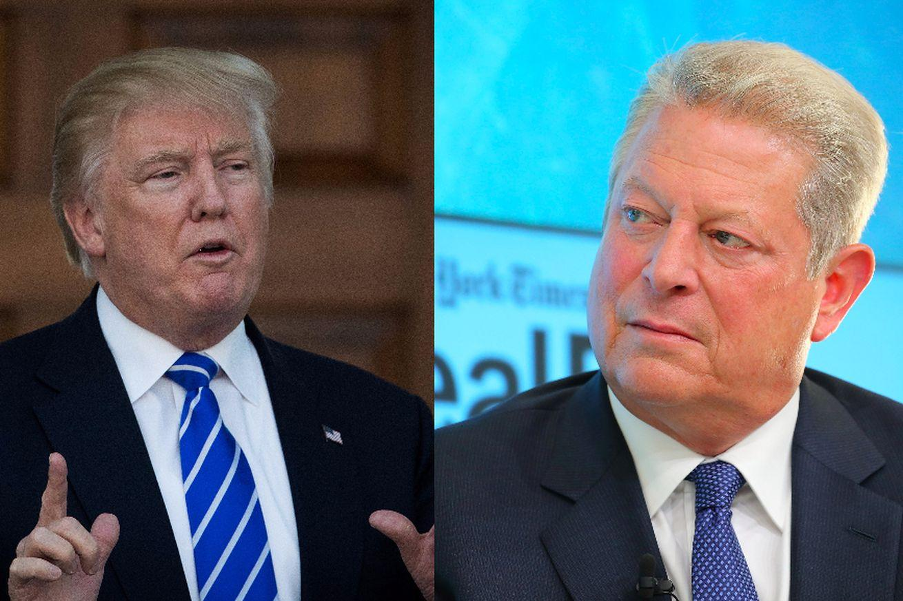 """Donald Trump met with Al Gore to discuss """"climate issues."""" We have many, many questions."""