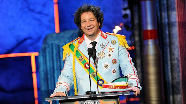 Comedian Jeffrey Ross speaks onstage at Comedy Central's Roast of Charlie Sheen.