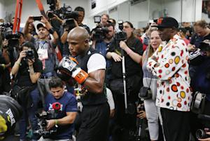 In this photo taken Thursday, April 14, 2015, Floyd …