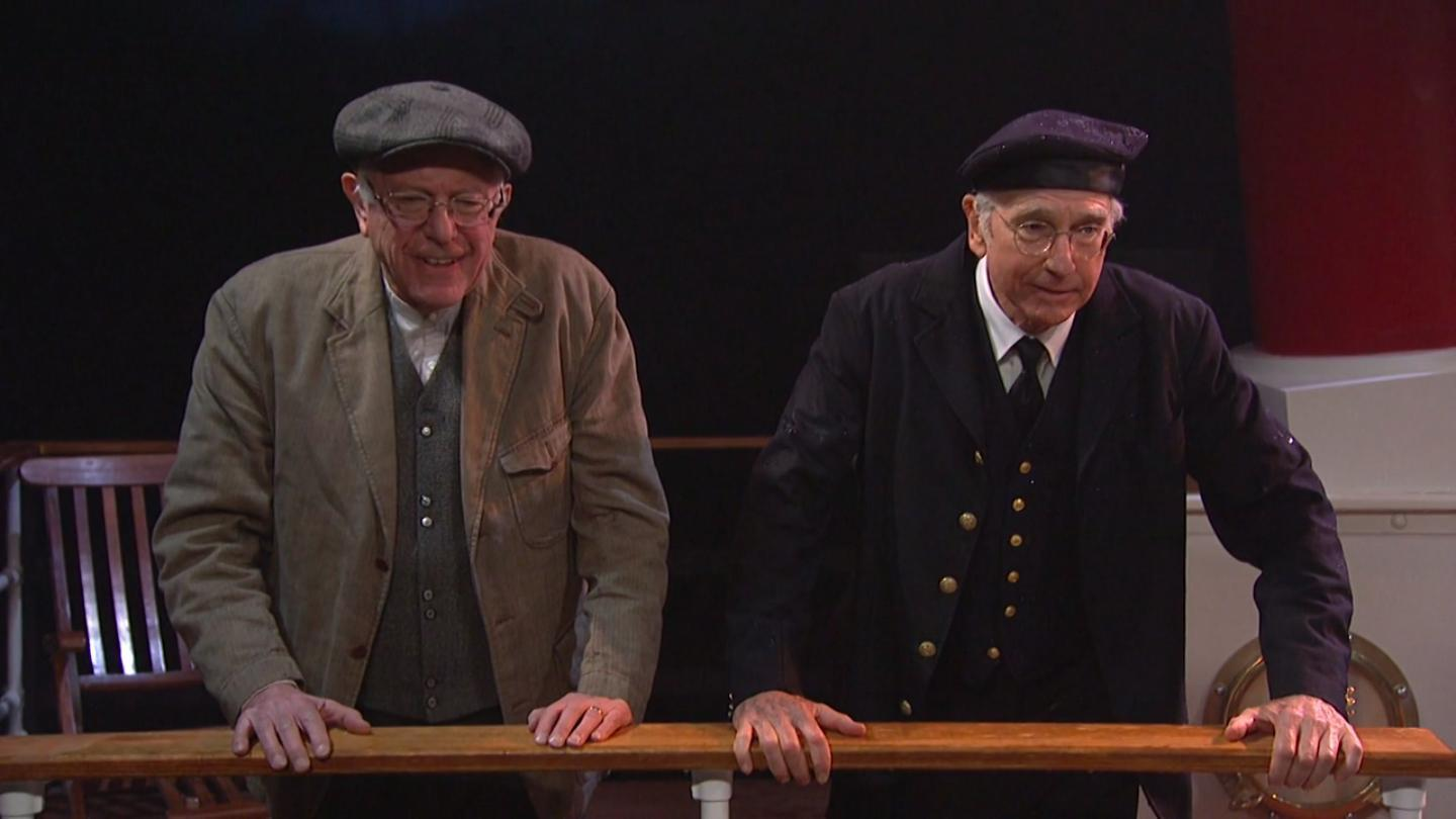 Bernie Sanders and Larry David appear together, finally, on 'SNL'