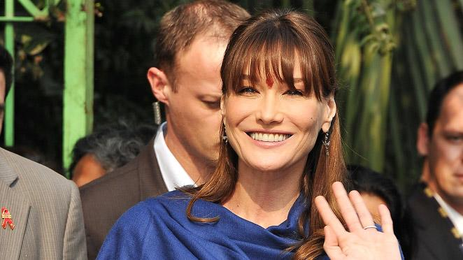 Carla Bruni Carla Bruni Visits Children Hospital For Aids