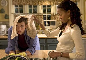 Ashton Kutcher and Zoe Saldana in Columbia Pictures' Guess Who