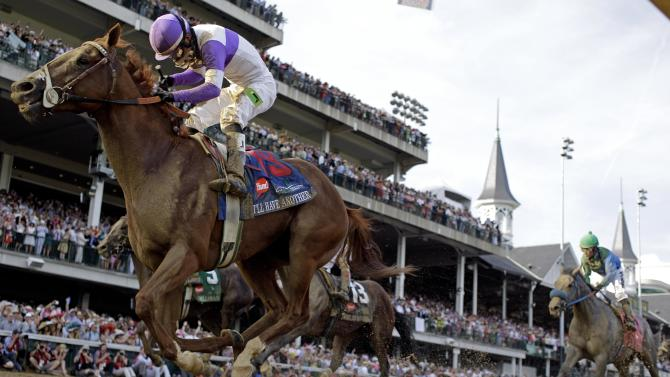 May 5 Jockey Mario Gutierrez rides I'll Have Another to victory in the 138th Kentucky Derby horse race at Churchill Downs Saturday, May 5, 2012, in Louisville, Ky. (AP Photo/David J. Phillip)