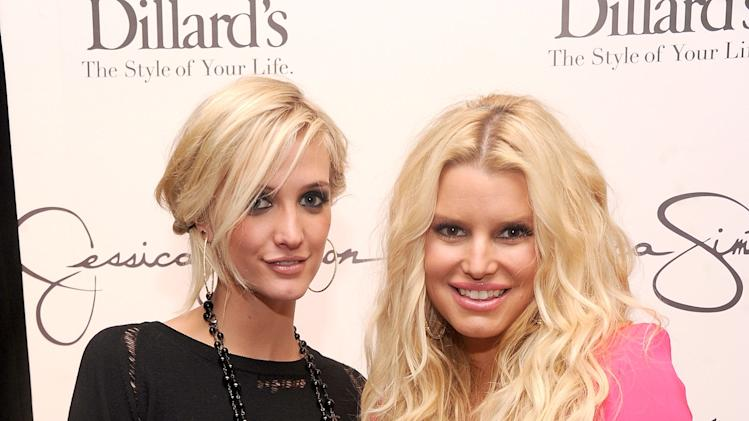 Jessica And Ashlee Simpson Visit Dillard's at International Plaza In Support Of the Jessica Simpson Collection