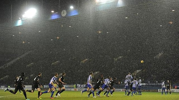 Sheffield Wednesday's Championship clash against Wigan fell victim to heavy rain