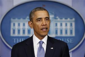 Obama speaks about the crisis in Ukraine from the White House in Washington