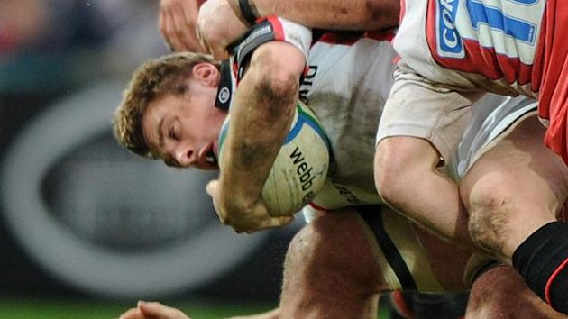Tommy Bowe in action for Ulster (PA)