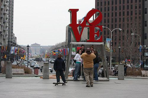 Skating Ban Lifted at Love Park Until February 15