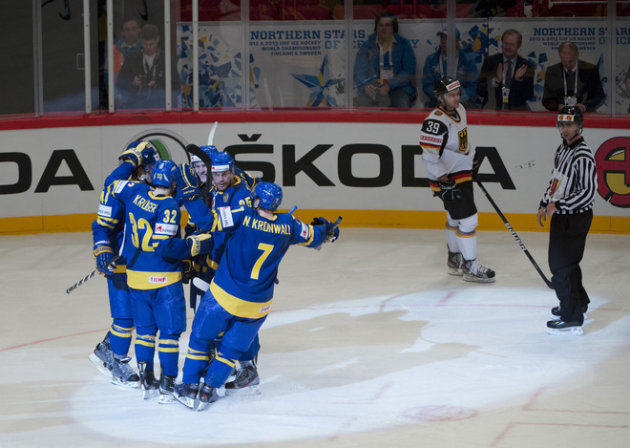 Sweden's Viktor Stalberg (#25) Celebrates AFP/Getty Images