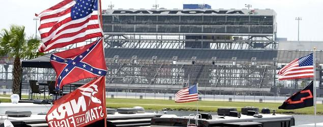 NASCAR fans defend, display Confederate flag
