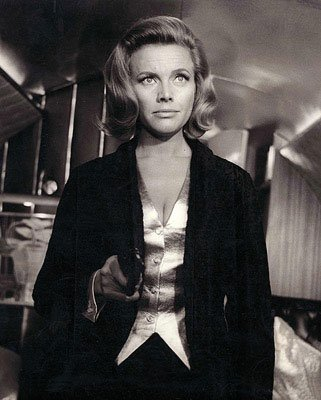 Honor Blackman stars as Pussy Galore in Goldfinger