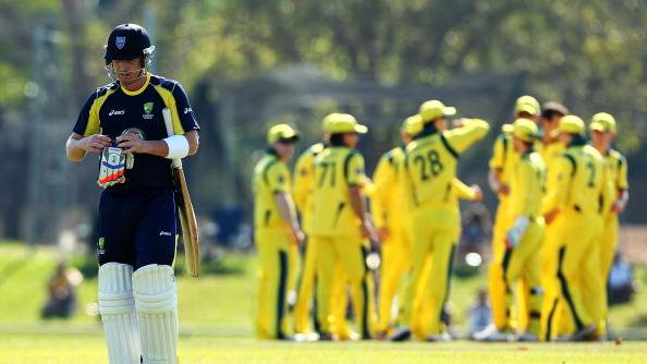 Brad Haddin of Australia A walks froom the field after being dismissed during the One Day cricket match between Australia and Australia A on August 12, 2012 in Darwin, Australia. (Photo by Mark Nolan/Getty Images)