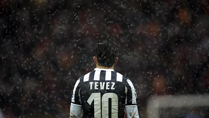 Juventus' Argentine forward Carlos Tevez attends the UEFA Champions League group B football match between Galatasaray and Juventus at the TT Arena in Istanbul on December 11, 2013