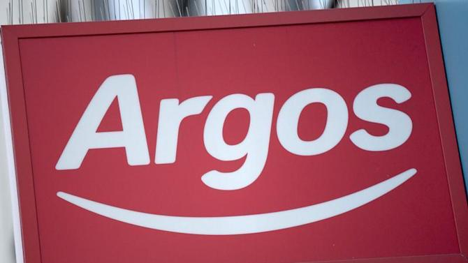 An Argos sign is seen outside a store in London