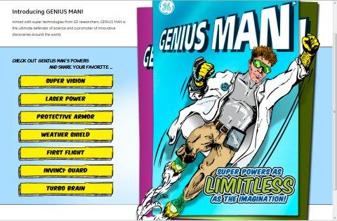 "GE Unveils High-Tech Superhero on the ""Digital"" Screen, GENIUS MAN*"