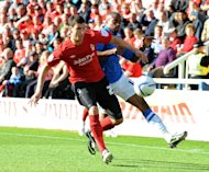 Daniel Ayala, left, in action against Peterborough on Saturday
