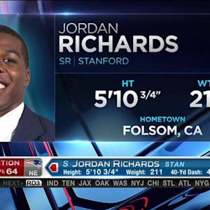 New England Patriots pick safety Jordan Richards No. 64 in the 2015 NFL Draft