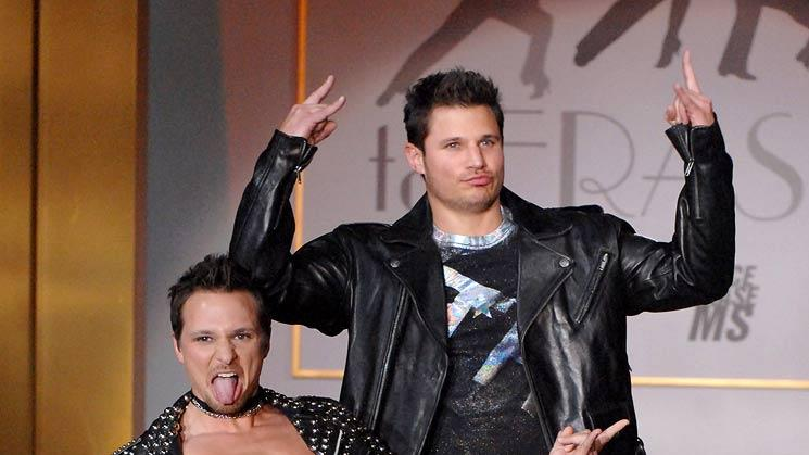 "Drew Lachey  and Nick Lachey wearing Tommy Hilfiger at the 14th Annual Race to Erase MS Themed ""Dance to Erase MS"" - Show."