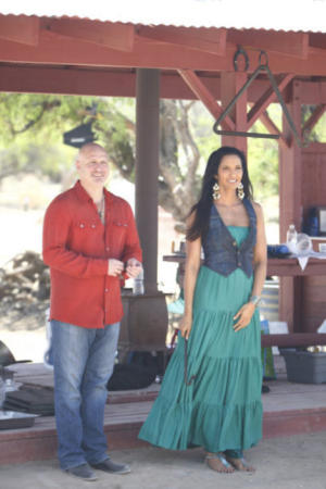 "Tom Colicchio and Padma Lakshmi from ""Top Chef: Texas."""