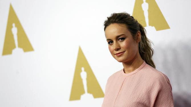Brie Larson arrives at the 88th Academy Awards nominees luncheon in Beverly Hills