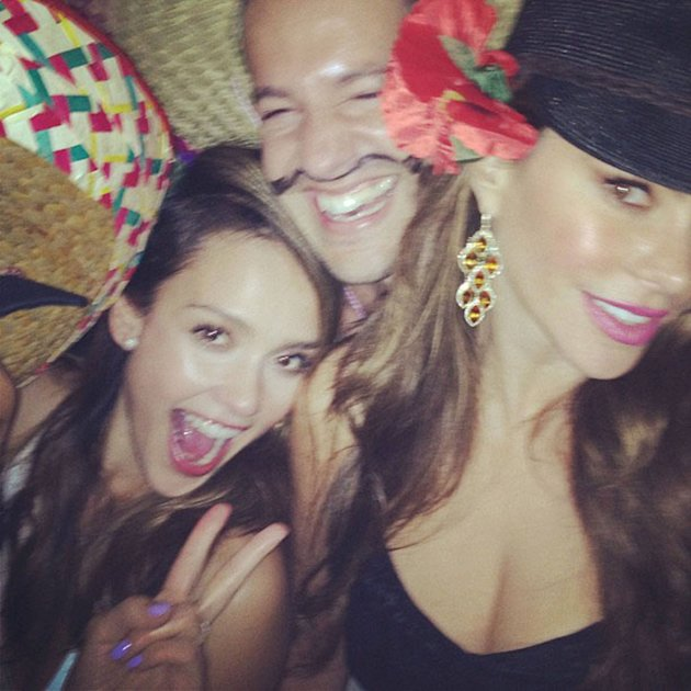 Jessica Albaposted this picture on Twitter with the caption '�Happy '#cincodemayo'Credit: Jessica Alba/Twitter Supplied by WENN.com(WENN does not claim any Copyright or License in the atta