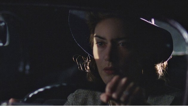 "Kate Winslet as Mildred in ""Mildred Pierce."""