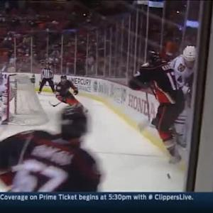 Ryan Kesler Hit on Niklas Hjalmarsson (03:16/1st)