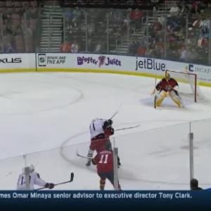Willie Mitchell Hit on Nick Foligno (07:41/1st)