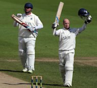 Tim Ambrose, right, helped edge Warwickshire towards the Championship title